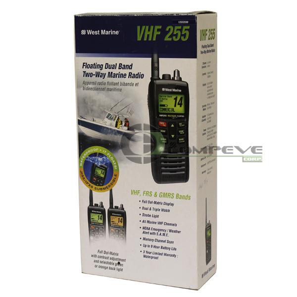 WEST MARINE VHF255 Floating Dual Band Two-Way Marine Radio [VHF255