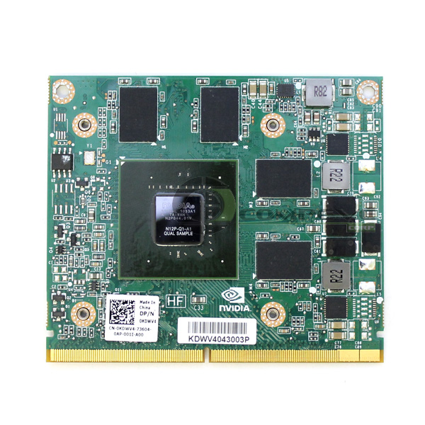 Nvidia Quadro 1000m 2gb Mxm Video Card Dell Kdwv4 N12p Q1
