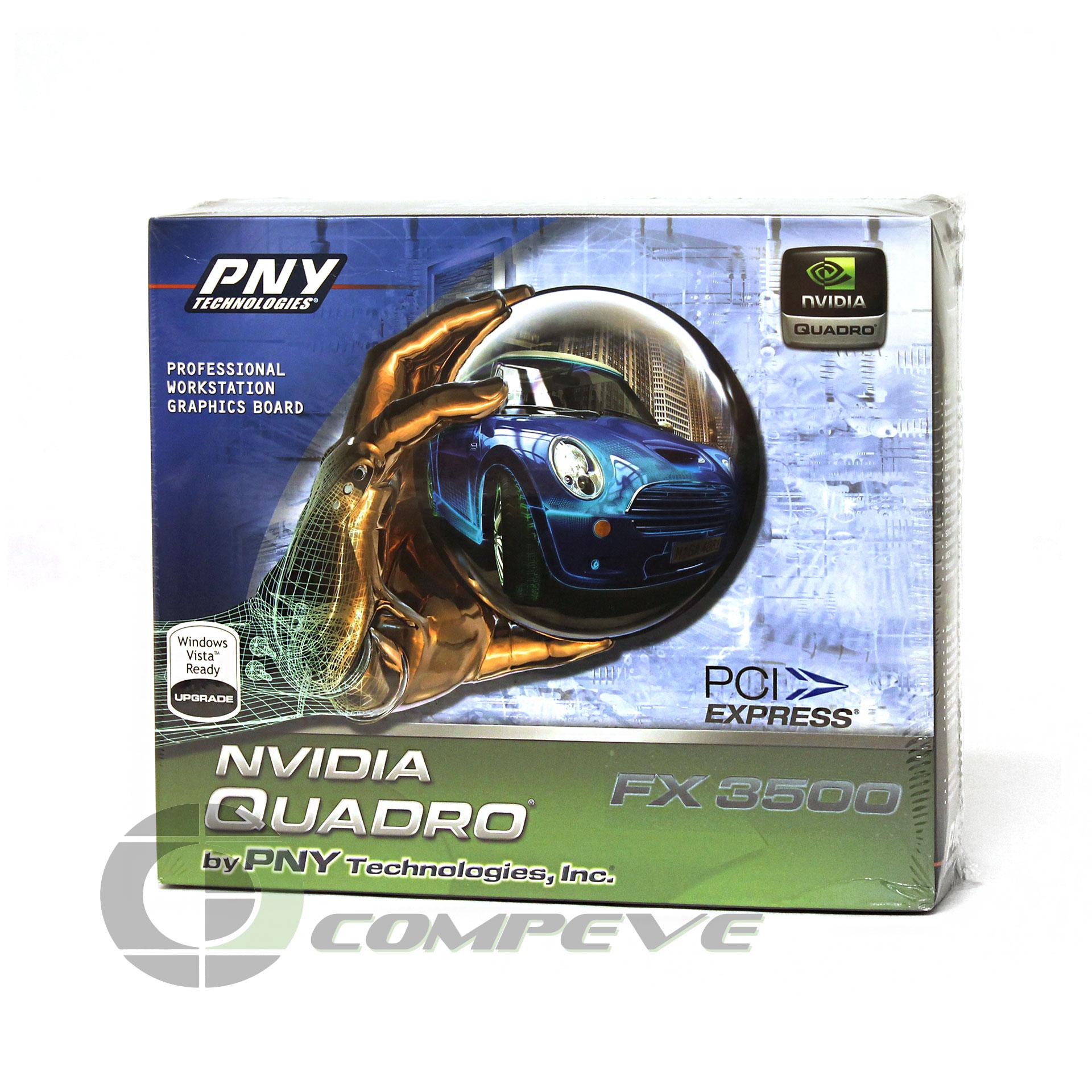 PNY Nvidia Quadro FX 3500 PCIe x16 256MB Dual DVI Video Card [FX