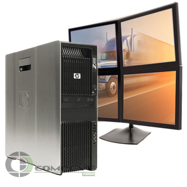 Details about HP Z600 Desktop PC 4 monitor support 6GB 250GB Win10 for  Dispatching Logistics