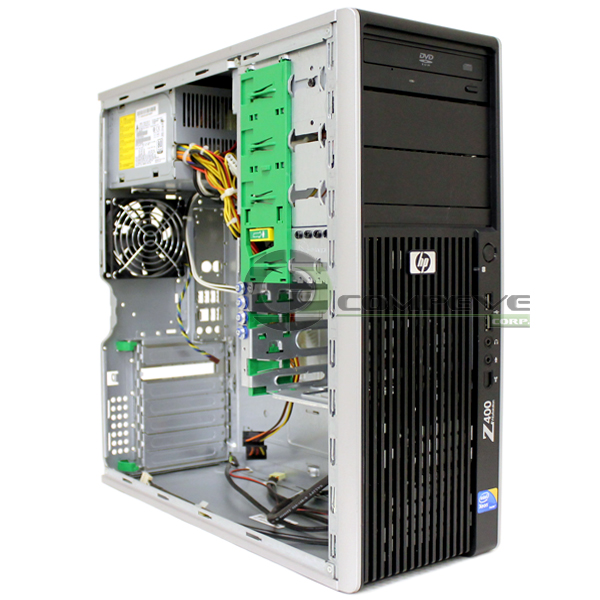 hp z400 workstation case chassis with dvd rom psu 468619 001 z400 case psu. Black Bedroom Furniture Sets. Home Design Ideas