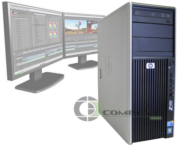 hp z400 workstation dual core 2 4ghz 3gb 500gb fx 3500. Black Bedroom Furniture Sets. Home Design Ideas