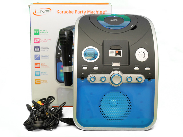 iLive IJP382B CD+G Karaoke Party Machine System with Apple ...