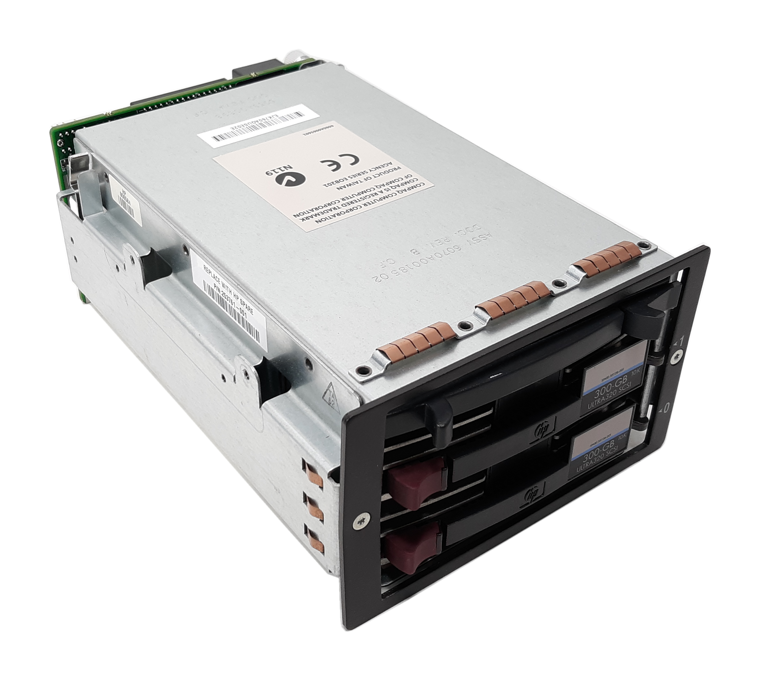 HP SCSI Drive Cage 2-bay Hot Plug Wide U2 with 258051-001 253761-001 351126-001
