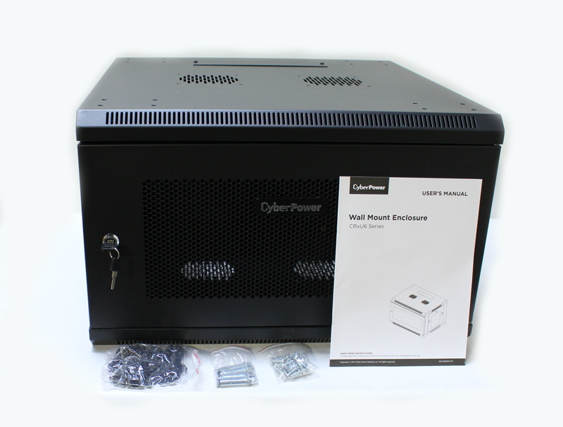 "CyberPower Carbon Cabinet 6U Wall Mountable Black 19"" CR6U61001"