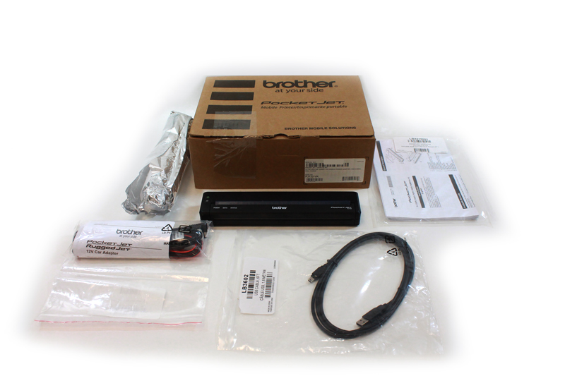 Brother PocketJet PJ-722 Thermal Printer Vehicle Kit PJ722
