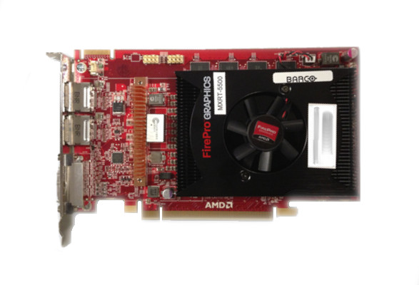 Barco MXRT-5500 3D PCIe Triple Head Graphic Card 2GB 13J K9306036-00