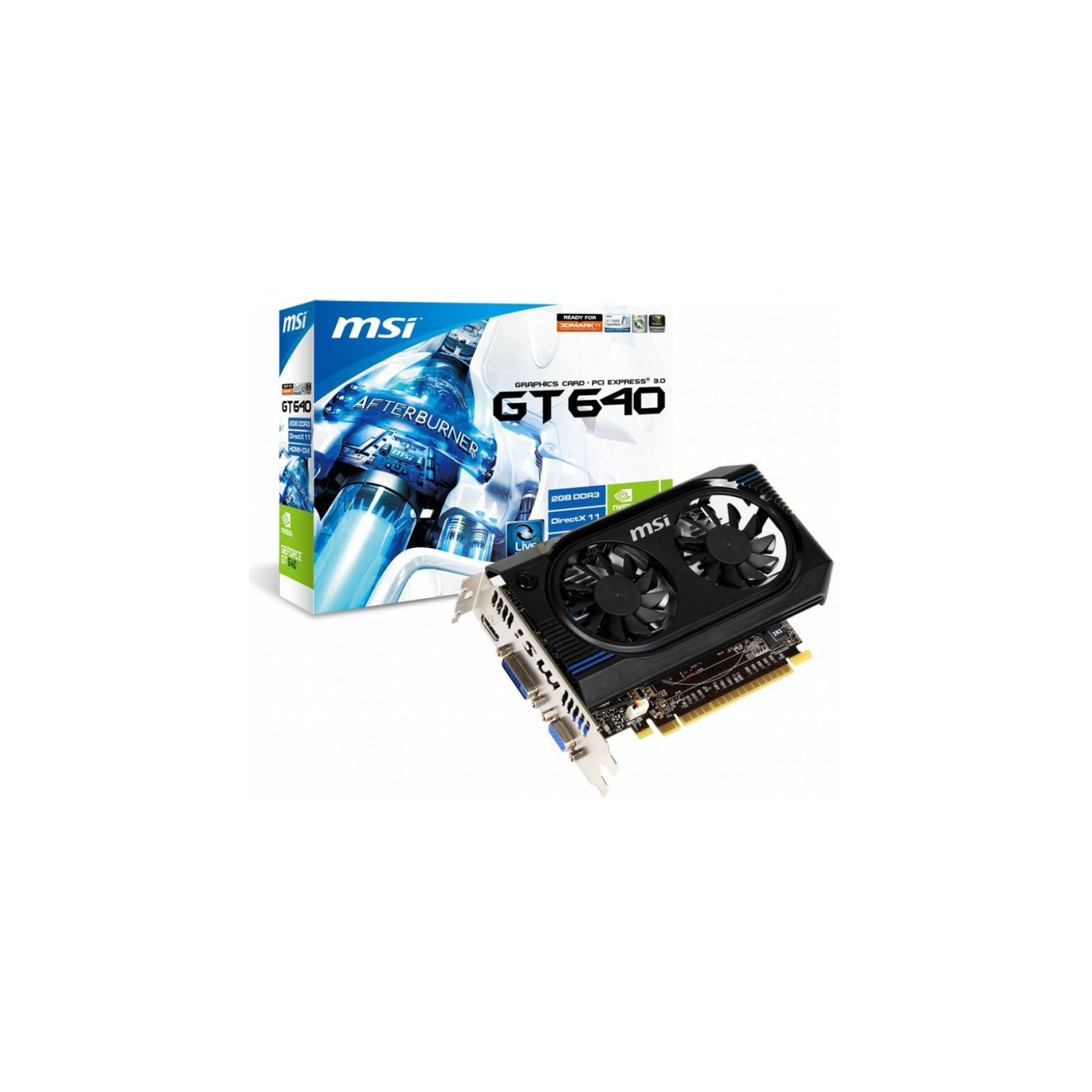 MSI GeForce GT 640 DirectX 11 N640GT-MD2GD3 2GB 128-Bit DDR3 PCI