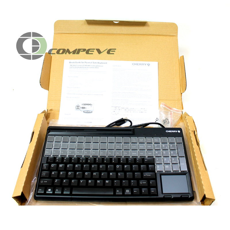 CHERRY G86-61411 Programmable POS Keyboard with MSR and Touchpad