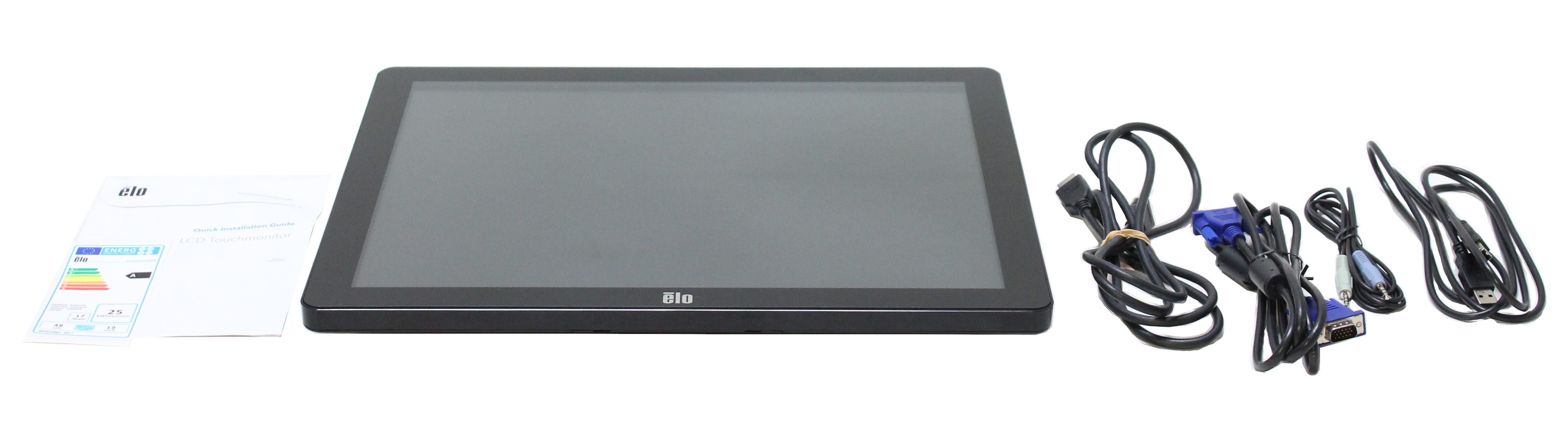 "Elo 1903LM LCD Monitor Black 19"" Touchscreen E349829"