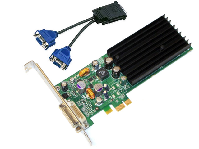Dell nVidia Quadro NVS 285 256MB PCIE x1 Video Card XP519
