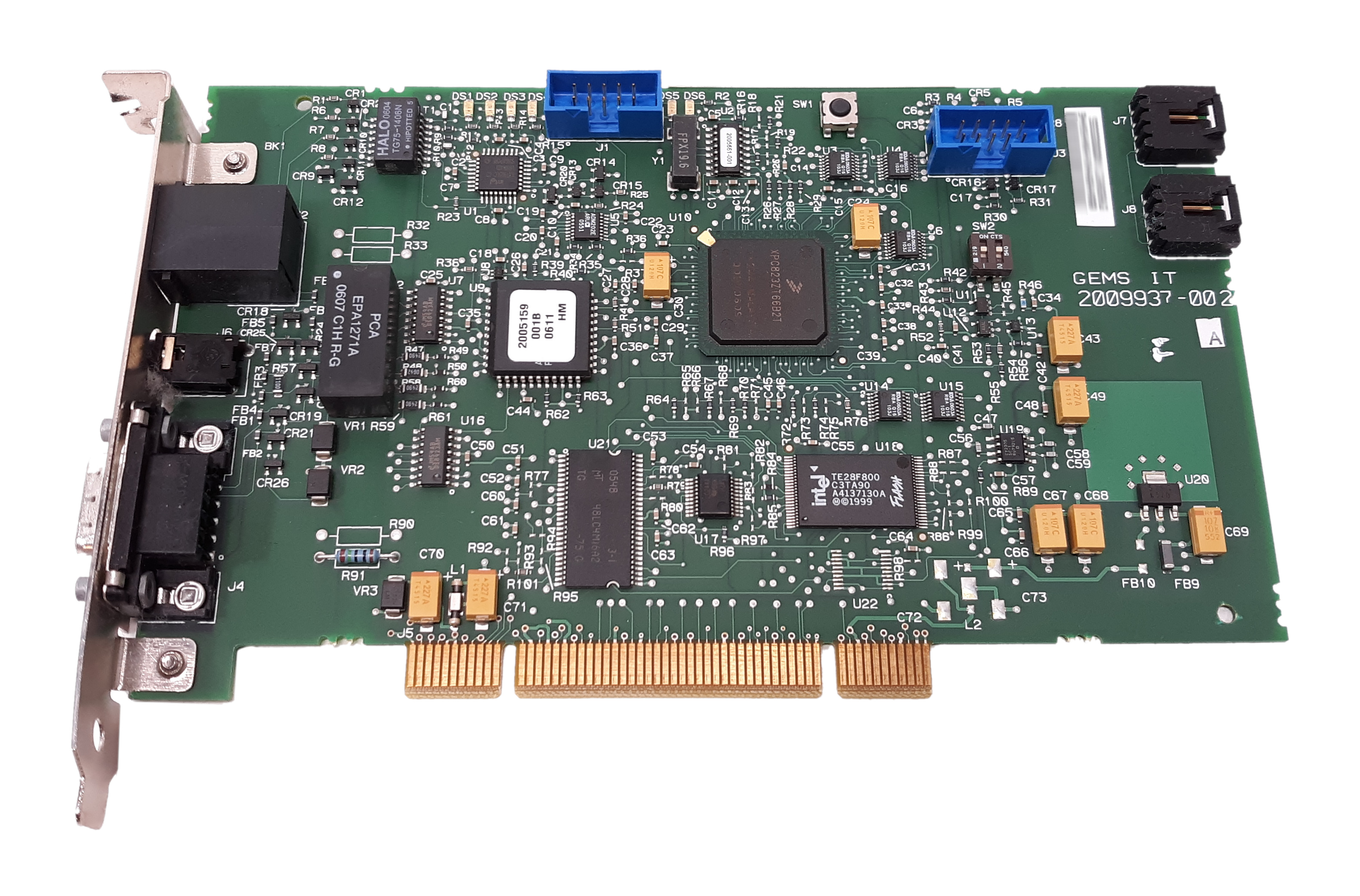 Intel GEMS IT Rev. A Ethernet Interface Card PCI GE Medical cardio Lab 2009937-002 2009936-002