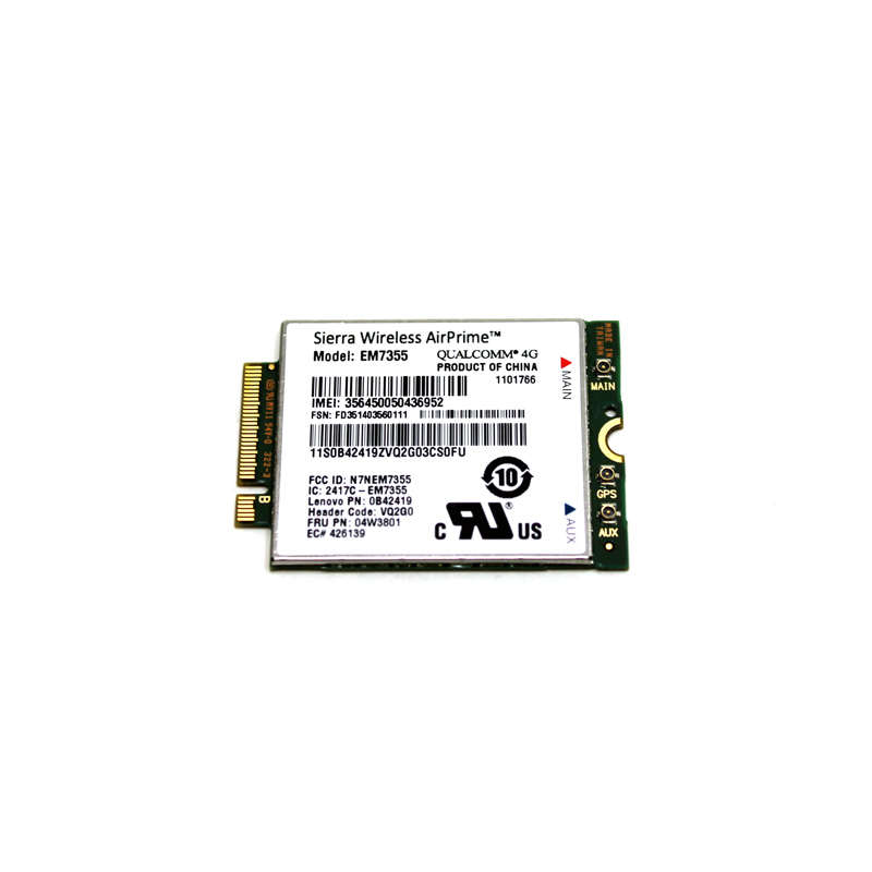 Lenovo ThinkPad GOBI 5000 Mobile Verizon 0C52902 EM7355 Qualcomm