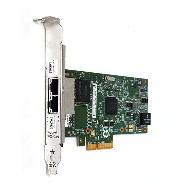 HP 361T PCIe Dual Port Ethernet 1GB Network Adapter 656241-001