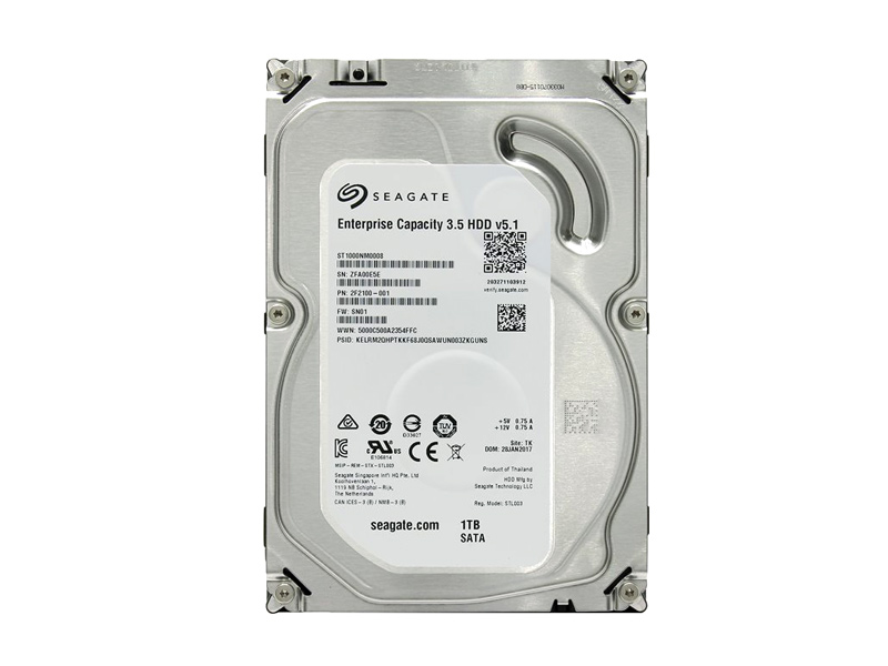 Seagate Enterprise 1TB ST1000NM0008 7200RPM 2F2100-001 Sata 3.5""