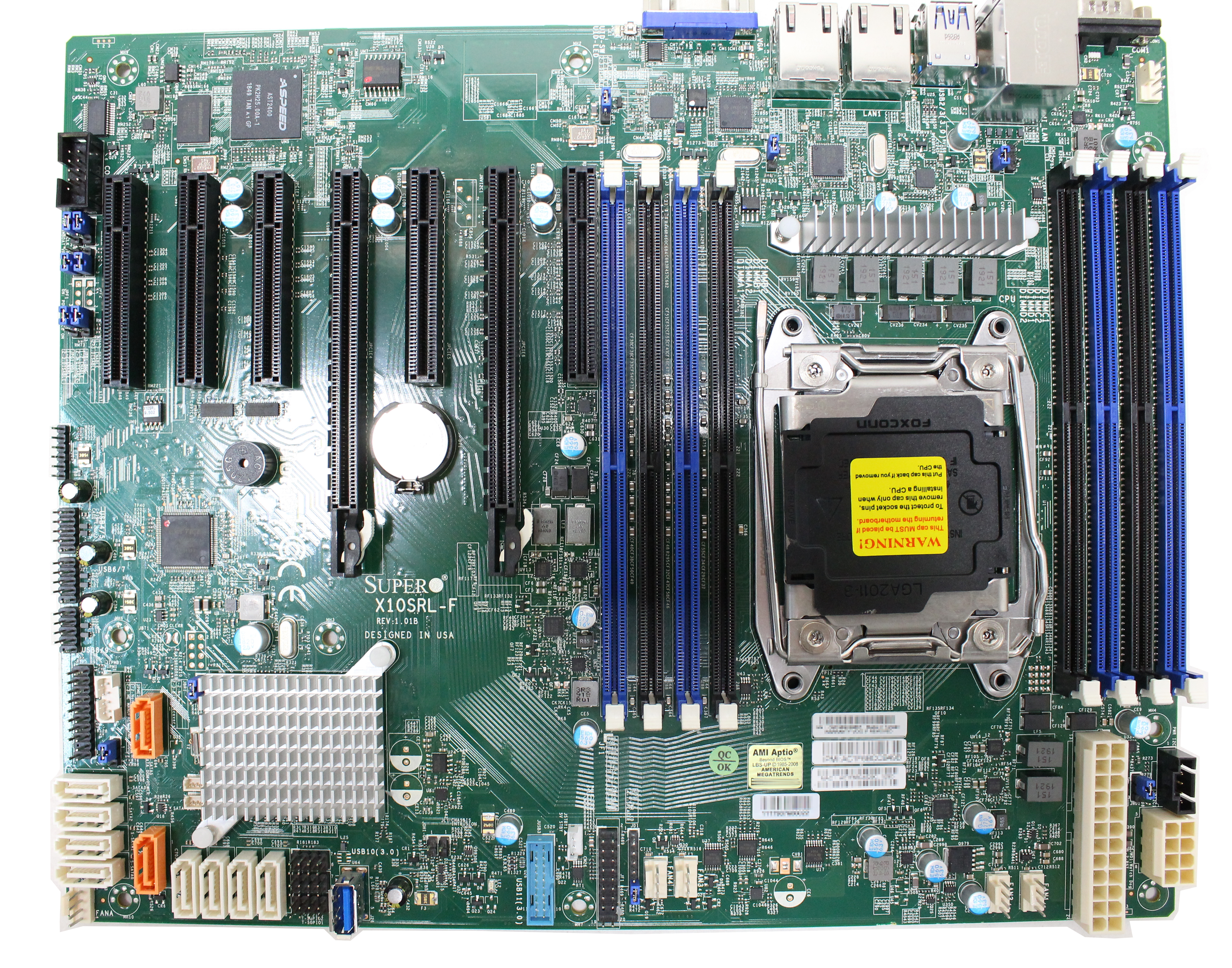 Supermicro motherboard ATX Socket LGA2011-v3 C612 USB 3.0 LAN graphics on board X10SRL-F