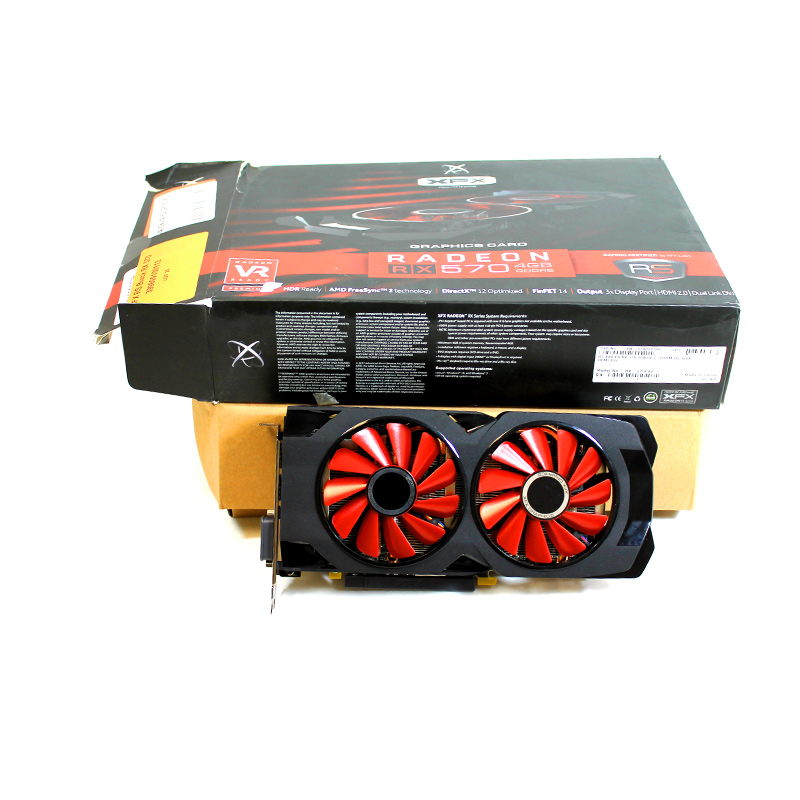 XFX RS Black RX 570 OC+ 4GB DDR5 3xDP HDMI DVI RX-570P4D VB.0