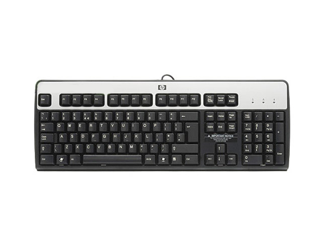 HP USB Black/Silver Standart Keyboard 537746-001