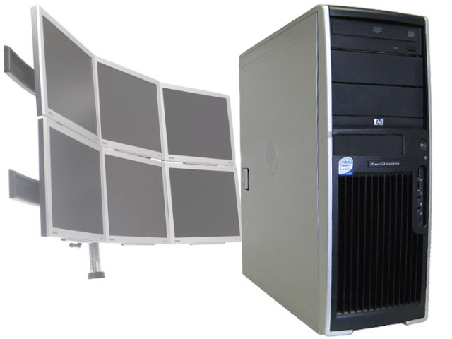 HP XW4400 Dual Core 1.86 Ghz 4GB 80GB XP 6 Monitor Computer PC