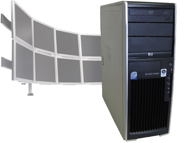 HP XW4600 Workstation 3GHz/4GB/80GB/8 Monitor Trading Computer