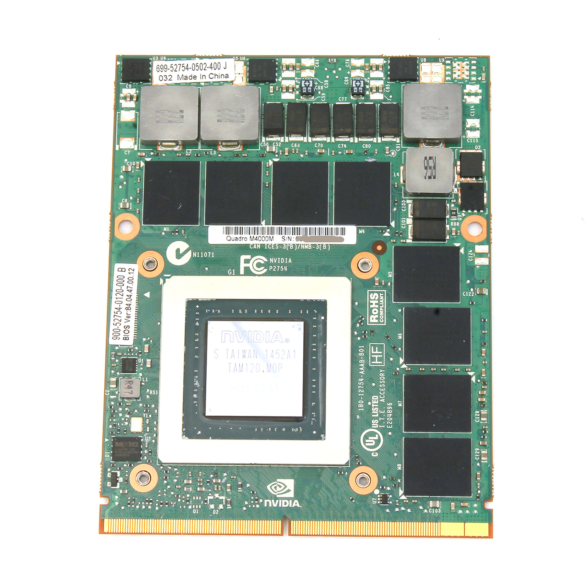 Dell Nvidia Quadro M4000M MXM 4GB Mobile Graphics Card 4XR03