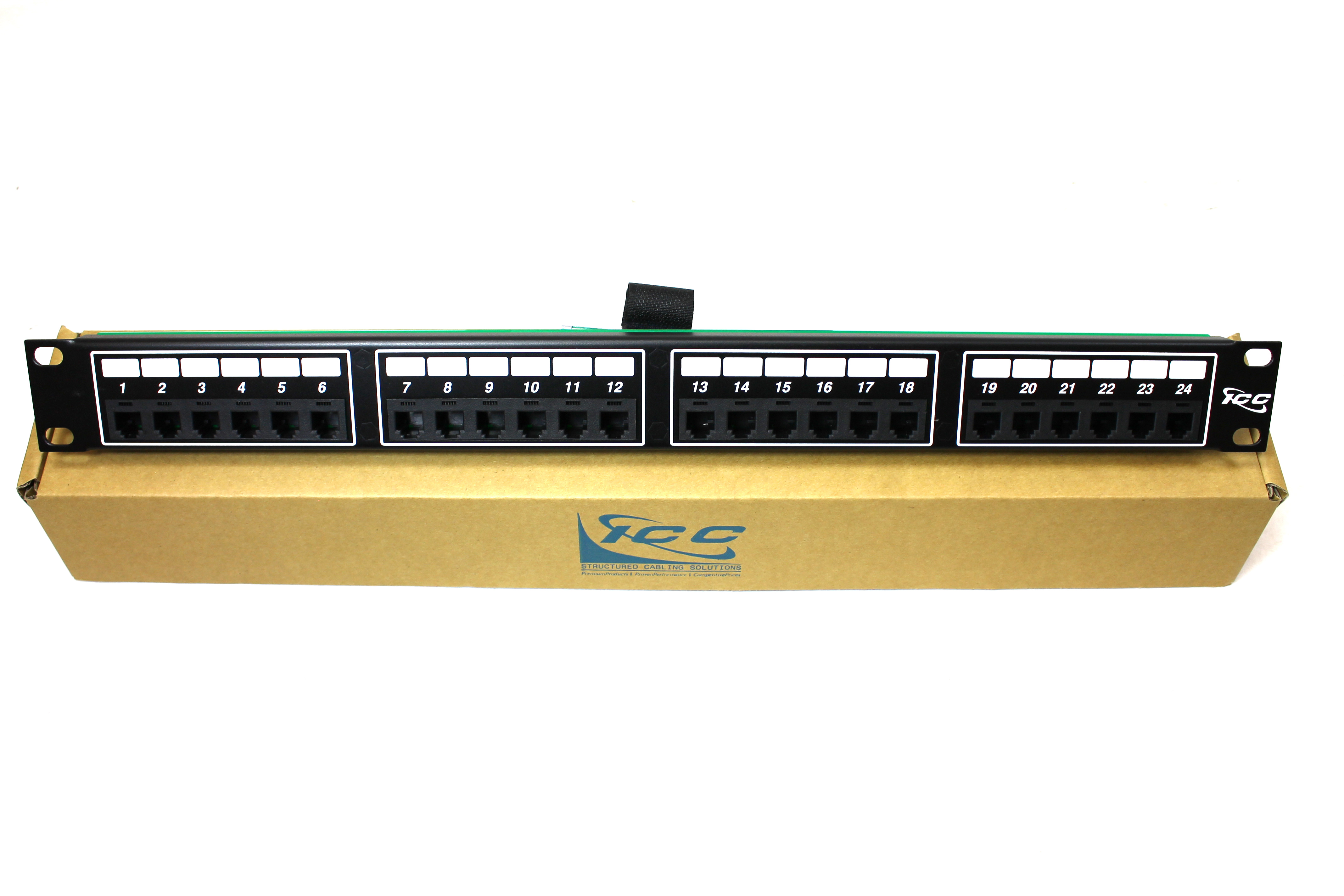"ICC ICMPP024T2 patch panel 1U 19"" TELCO 6P2C 24 PORTS 1 RMS"