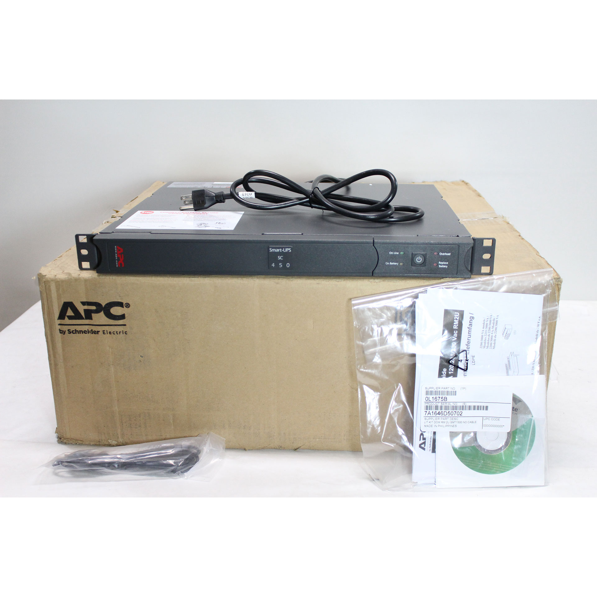 APC Smart-UPS SC 450VA UPS Network Management Card SC450R1X542