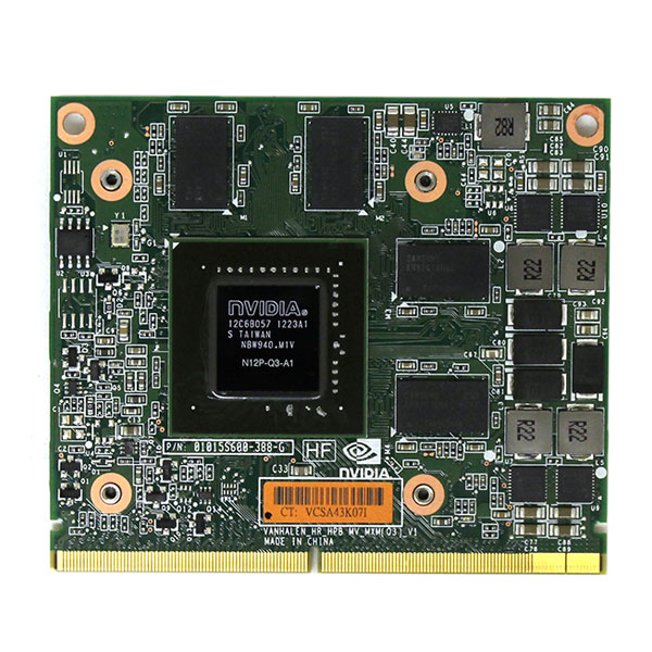 HP Nvidia Quadro 2000M 2GB Mobile Video Card for Elitebook 8560w