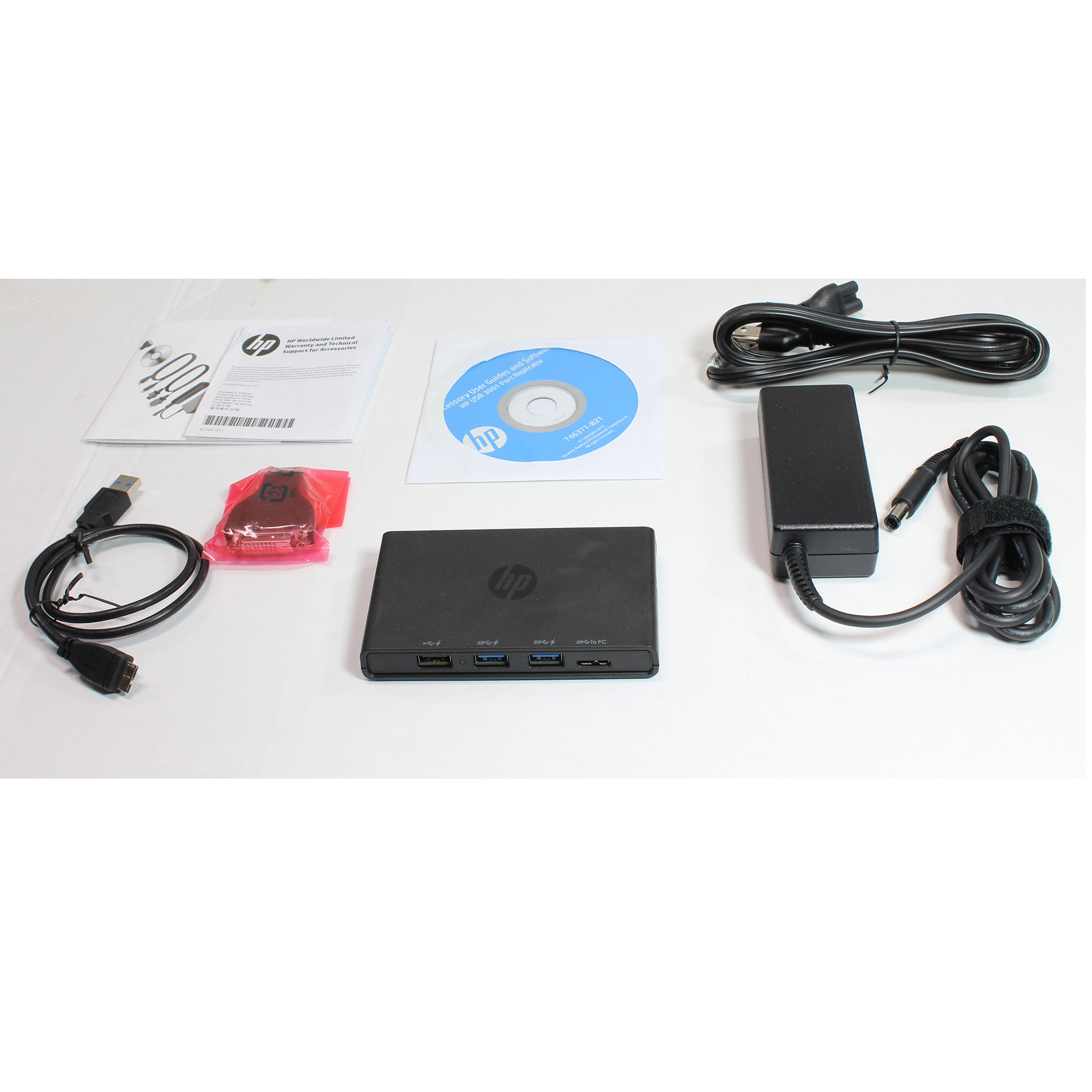 HP USB 3.0 Docking Station Port Replicator Notebook 745898-001