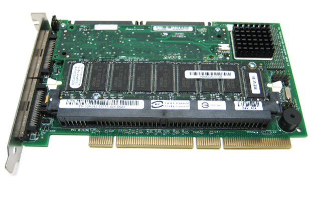 Dell 9M912 SCSI RAID Controller Card 128MB Memory Battery Backup