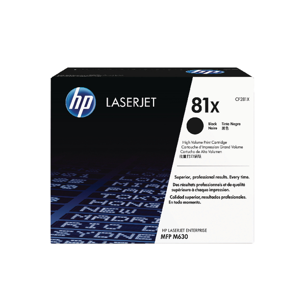 HP 81X Black High Yield Toner Cartridge CF281X