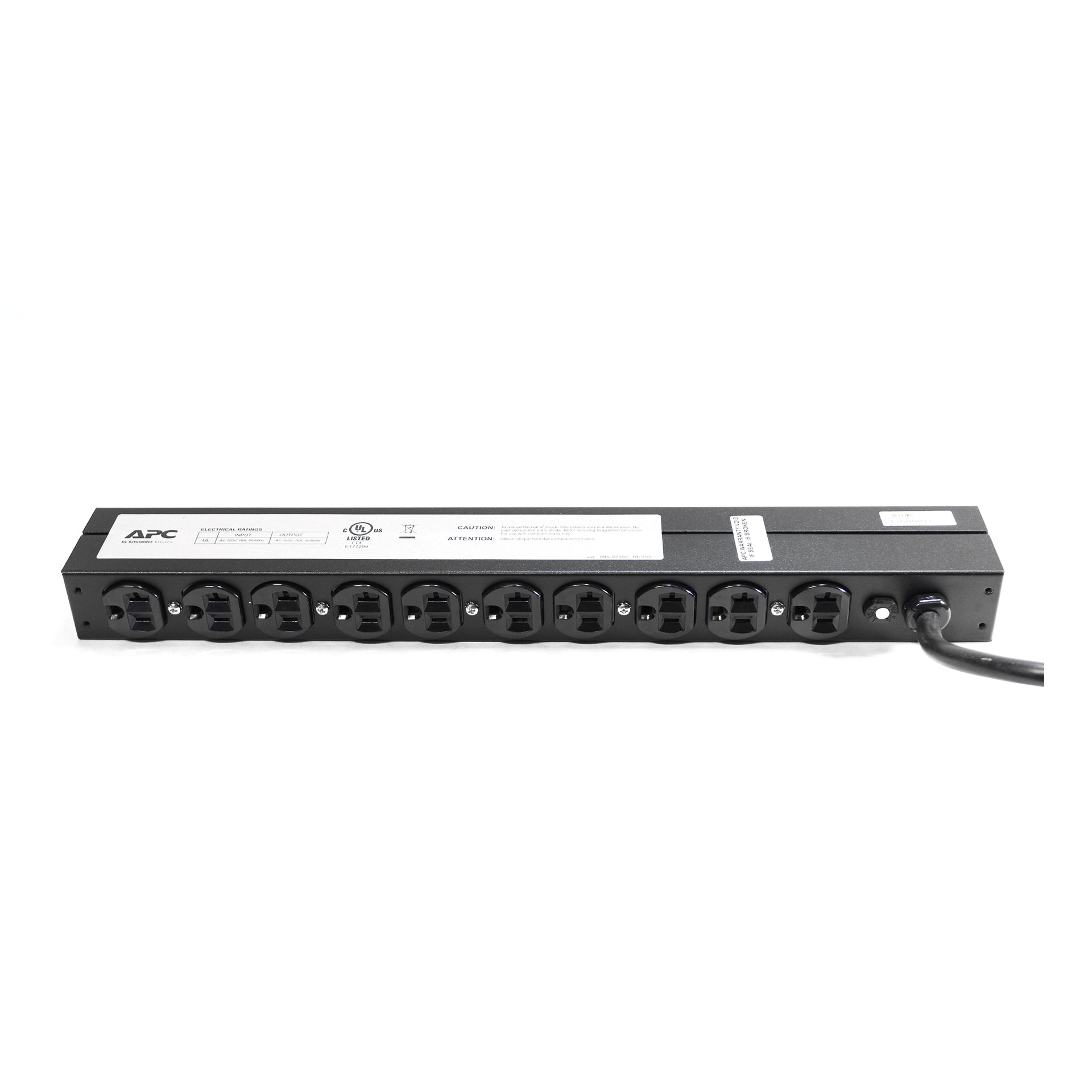APC AP9563 Basic 1U 120V 20A 12 ft Power Distribution Units#