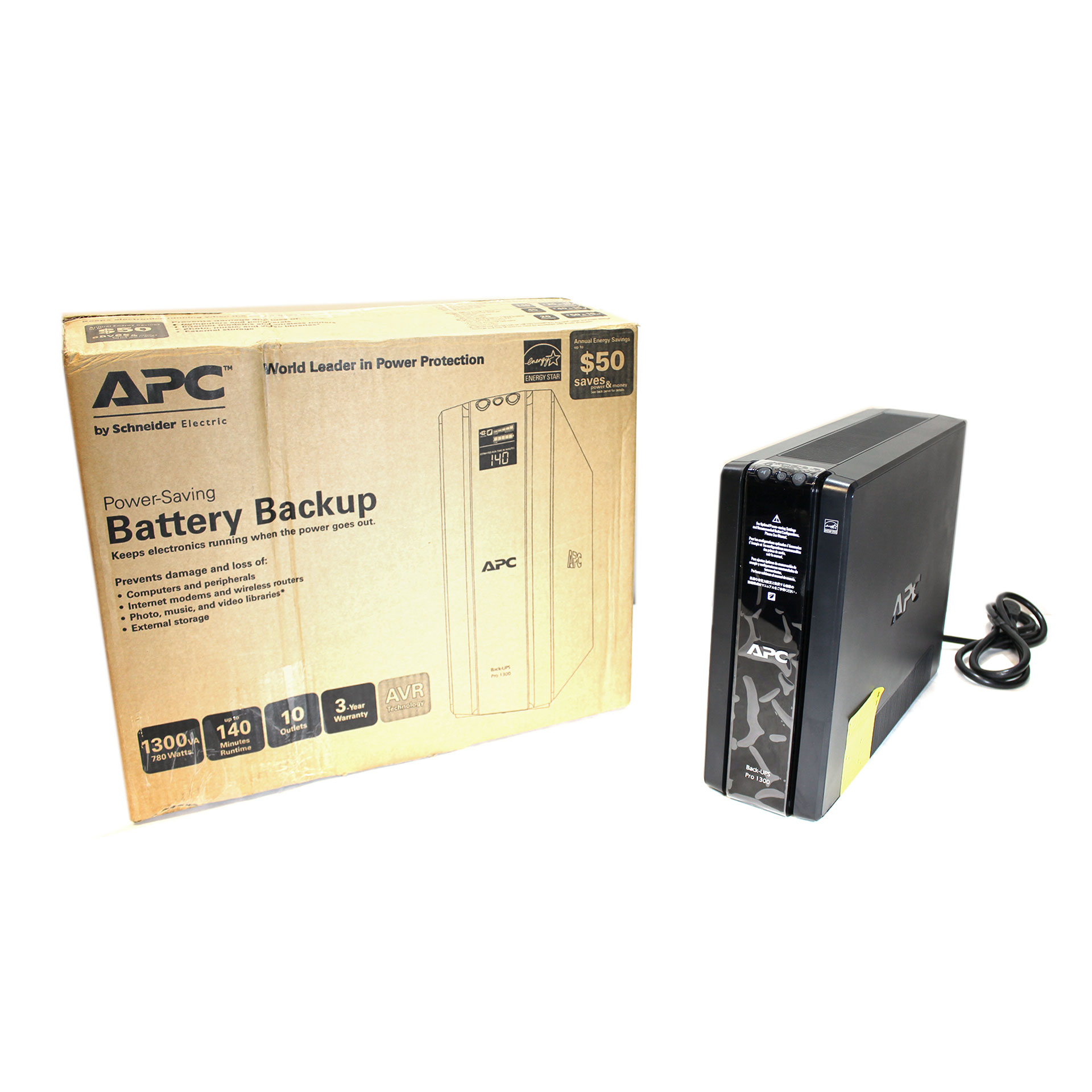 APC 1300VA Power Saving Back-UPS 1300 UPS BR1300G / No Battery