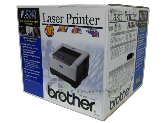 Brother HL-5240 Office Laser Printer 1200 dpi 30ppm USB B/W