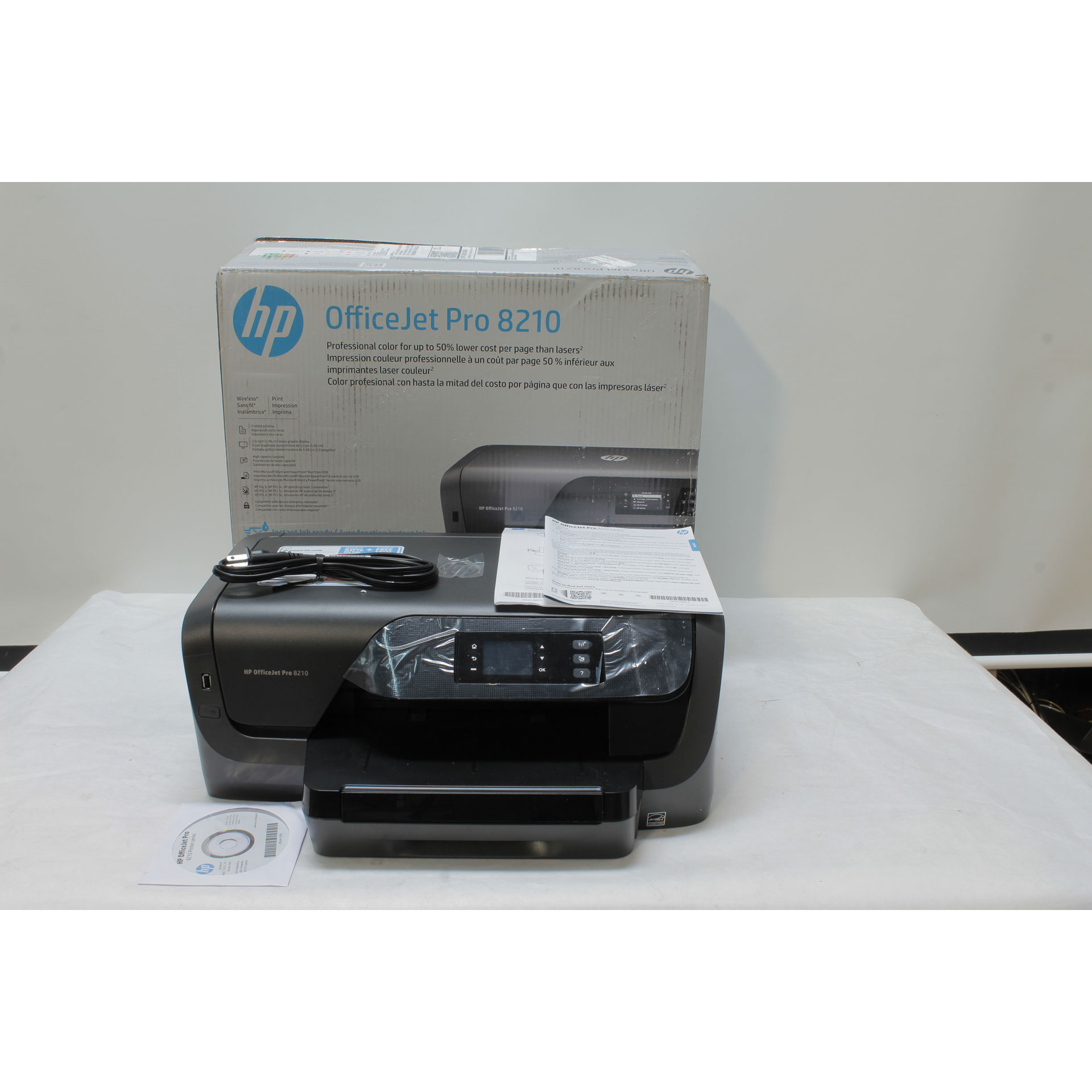 HP OfficeJet Pro 8210 A4 Inkjet Color Duplex Printer D9L64A