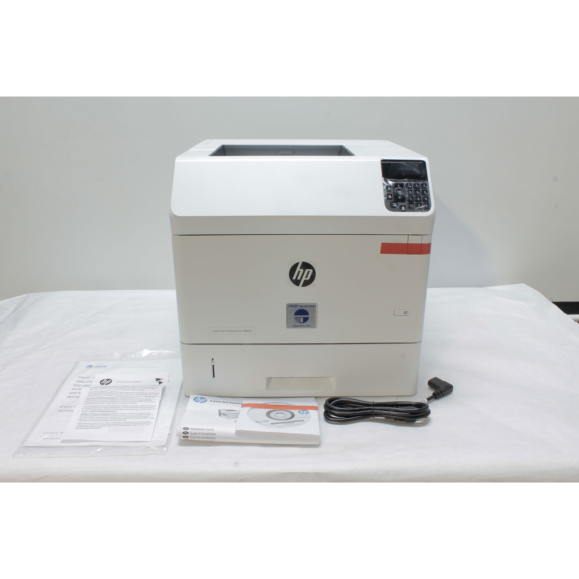 HP TROY M605n Secure DXi Monochrome Laser Printer 101-05020-101