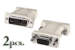 Two (2) pieces DVI (Male) to VGA (Female) Adapters