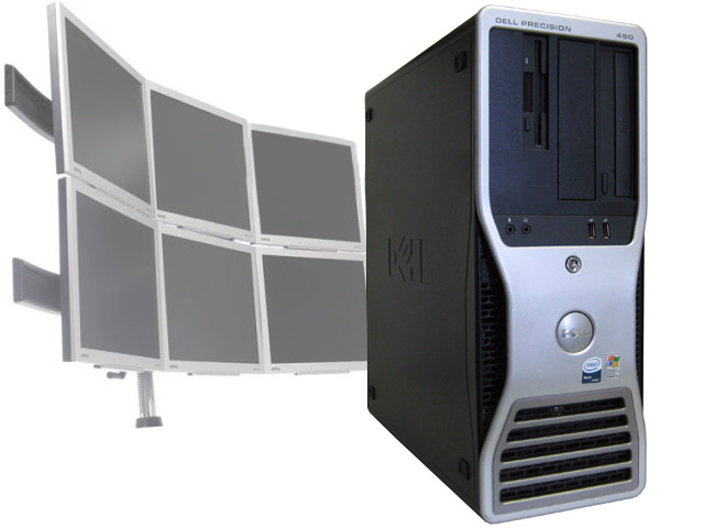 Dell Precision 490 4-Core 2.33GHz/2GB 6 Monitor Trading Computer