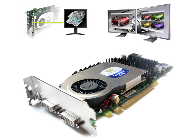 nVidia Quadro FX 3400 FX3400 PCI-E 256MB Video Card Dell R8961