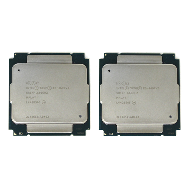 2x Intel Xeon E5-2697 v3 2.6GHz 35MB L3 Cache Server Processors