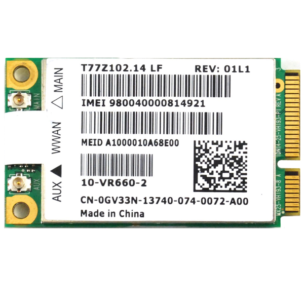 Dell Wireless 5620 EVDO-HSPA Mobile Broadband Card GOBI2000 3G