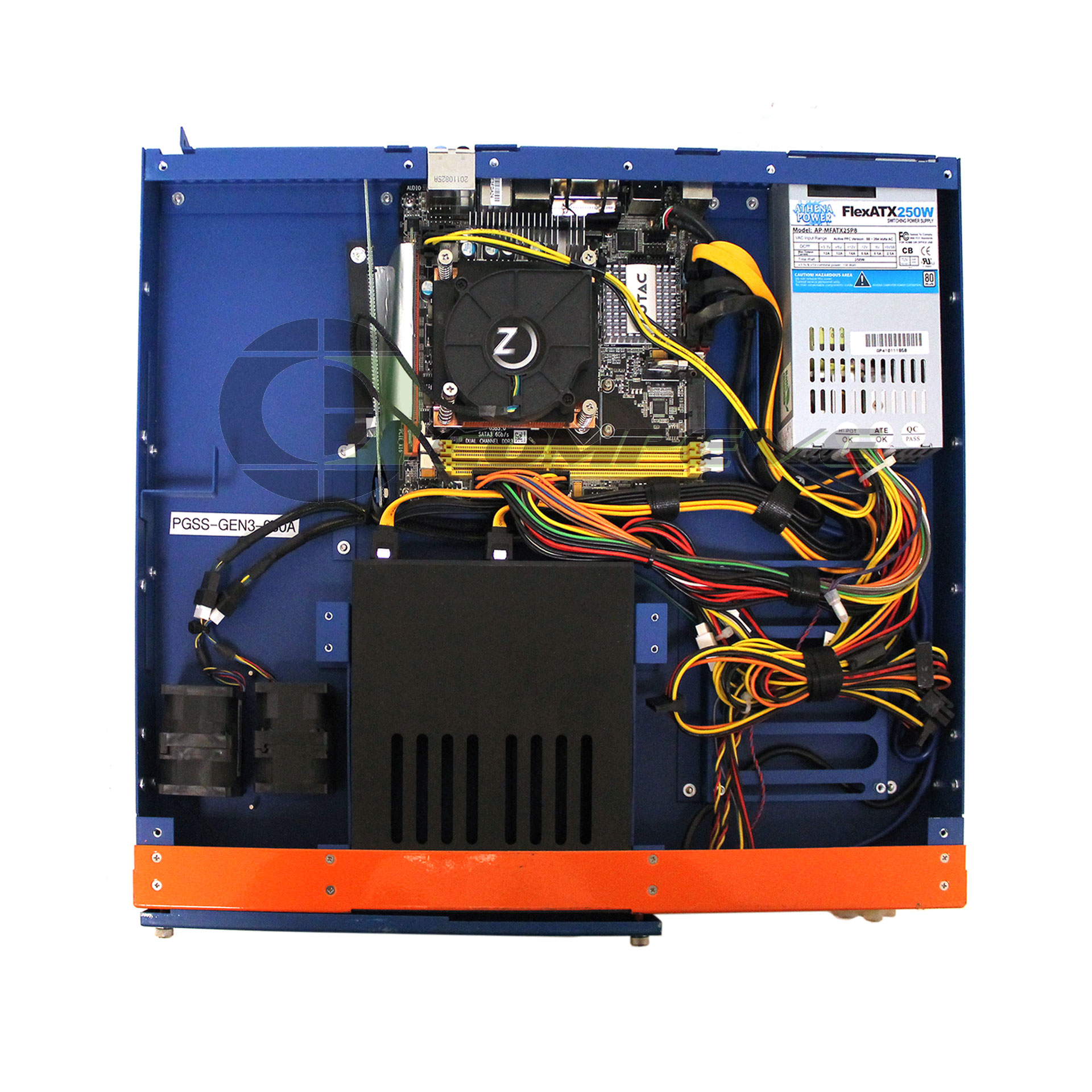 iStarUSA 1U Server ZOTAC H67ITX-C-E Motherboard Intel H67/  250W Power Supply/ x2 Fans / Riser Card / LCD Screen