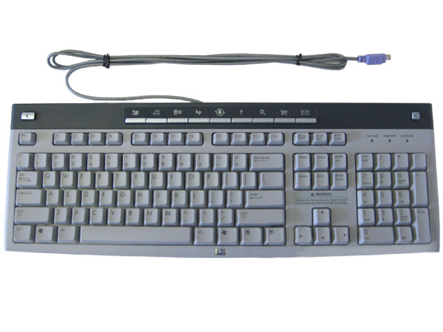 HP Multimedia Keyboard Grey/Blue PS2 Hot Keys 5187-1767 KB-0228