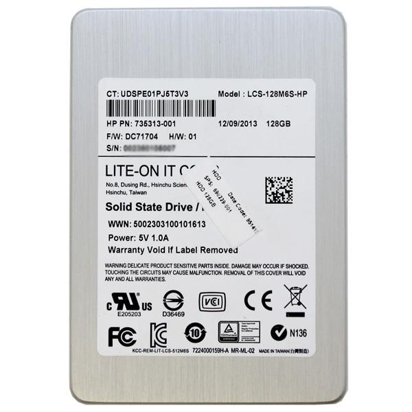 LiteOn 128GB 2 5 SATA SSD LCS-128M6S-HP 735313-001 690229
