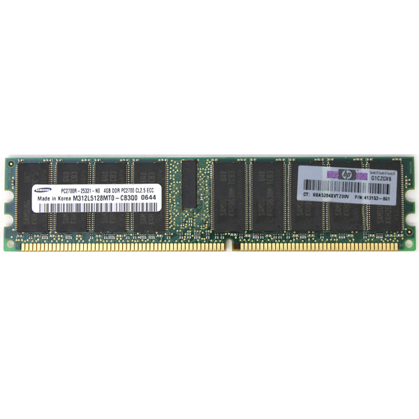 Samsung 4GB DDR PC2700 CL2.5 ECC M312L5128MT0-CB3Q0 413153-861