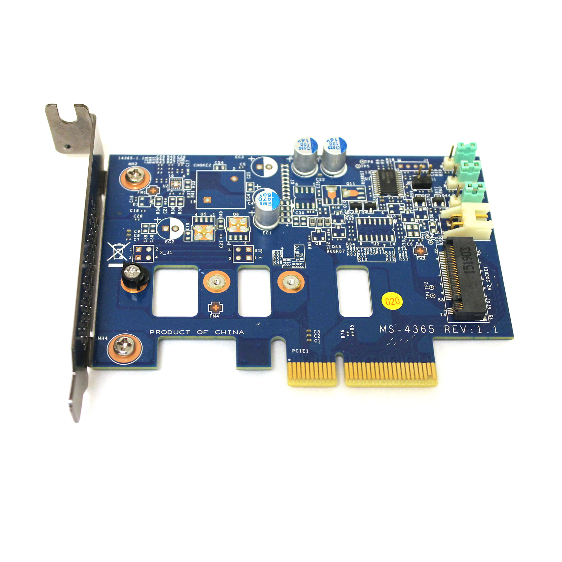 HP SSD PCI-e To M.2 Controller Adapter Card 742006-002 MS-4365 - Click Image to Close