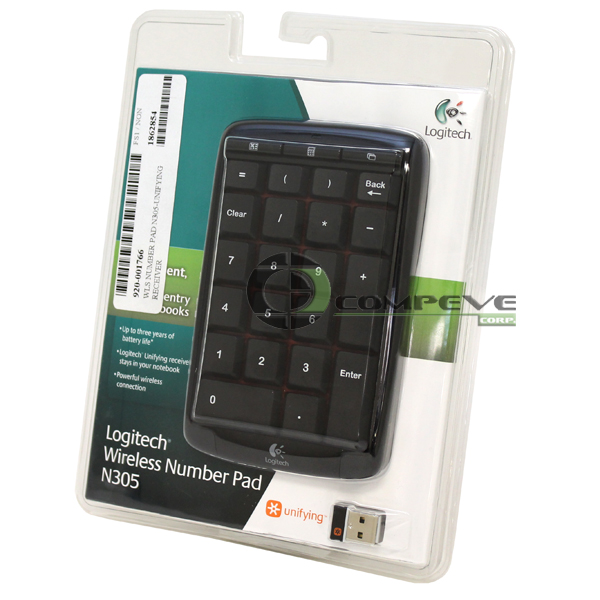 Logitech Wireless Number Pad N305 Unifying Receiver 920-001766