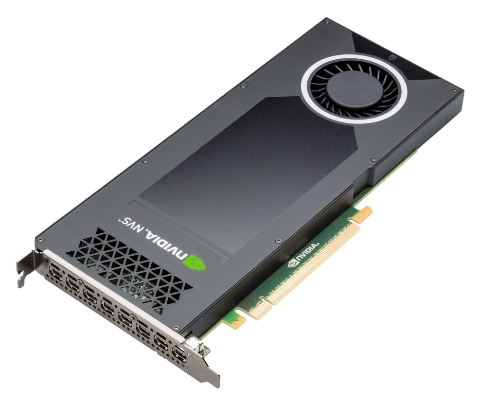 PNY NVIDIA NVS 810 Graphics Card VCNVS810 8x Mini DP 4GB 128 bit