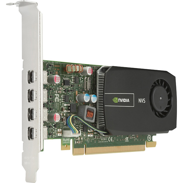 4K nVidia Quadro NVS 510 PCIe x16 2GB Video Card HP 700101-002