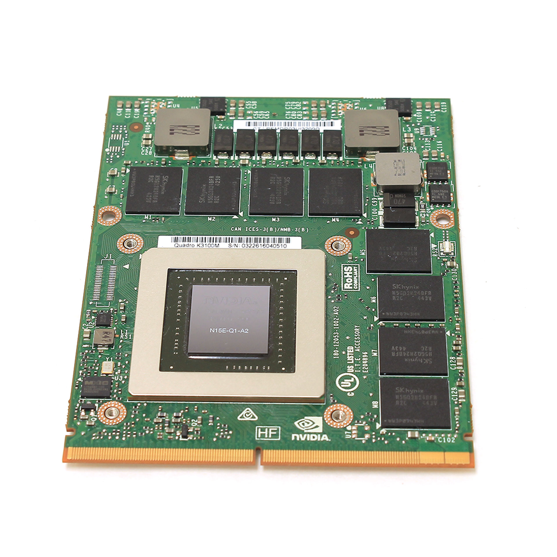 HP NVIDIA Quadro K3100M 4GB Graphics Card 768840-001